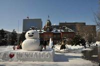 旧北海道庁&雪だるま