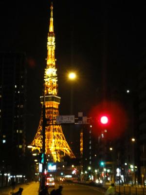 三田交差点より東京タワー