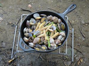 ヤングコーンとアサリの炒め物