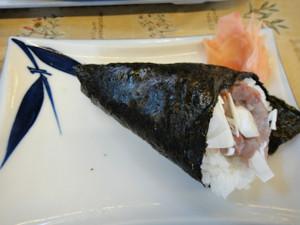 鯵手巻き寿司