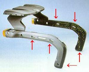 クラウザーK2のパニアブラケット