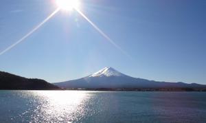 河口湖北岸より富士山