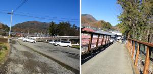 鳥沢駅近くの陸橋