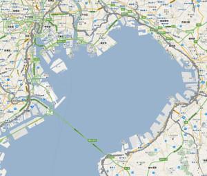 古地図の海岸線を現代地図に重ね合わせてみた
