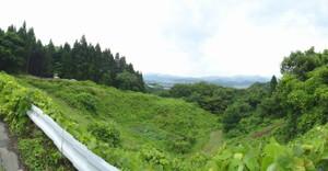 山形市内を見渡せる高台