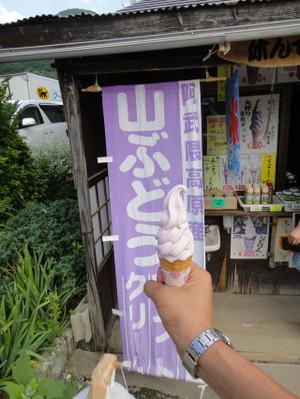 山ブドウソフトクリーム