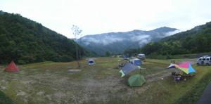 朝のテン場
