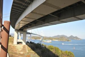 自転車道から見た来島海峡第三大橋