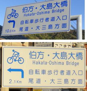 次の橋への距離表示