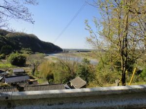 久慈川左岸の高台からの風景