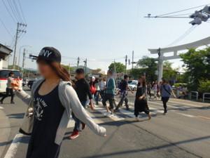 長瀞駅~ライン下りの辺り