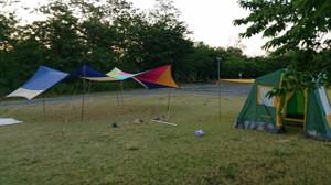 テント'sを建てる