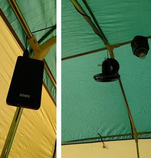 テント内の空気循環