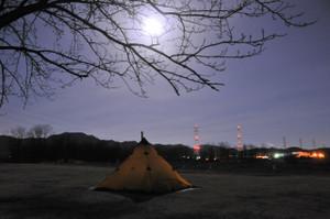 友人のテント