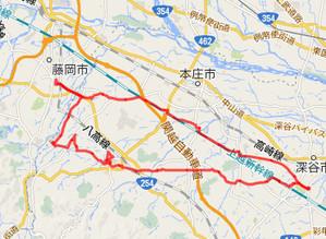 実走サイクリングルート