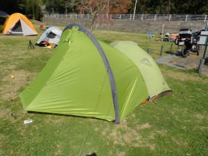 今日のテント