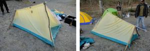 テント設営で困っている人が?
