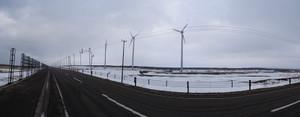 風車群のパノラマ撮影